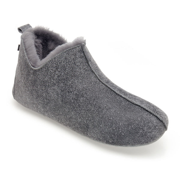 NEW Berit Sheepskin Slippers - Grey Distressed Leather