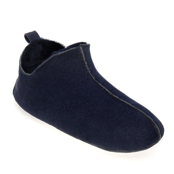 Berit Sheepskin Slippers/Yoga Shoe - Midnight Navy