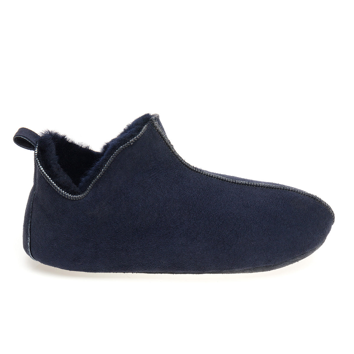 Berit Sheepskin Slippers/Yoga Shoe - Navy