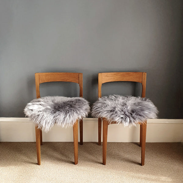 Grey British Sheepskin Seat Pad