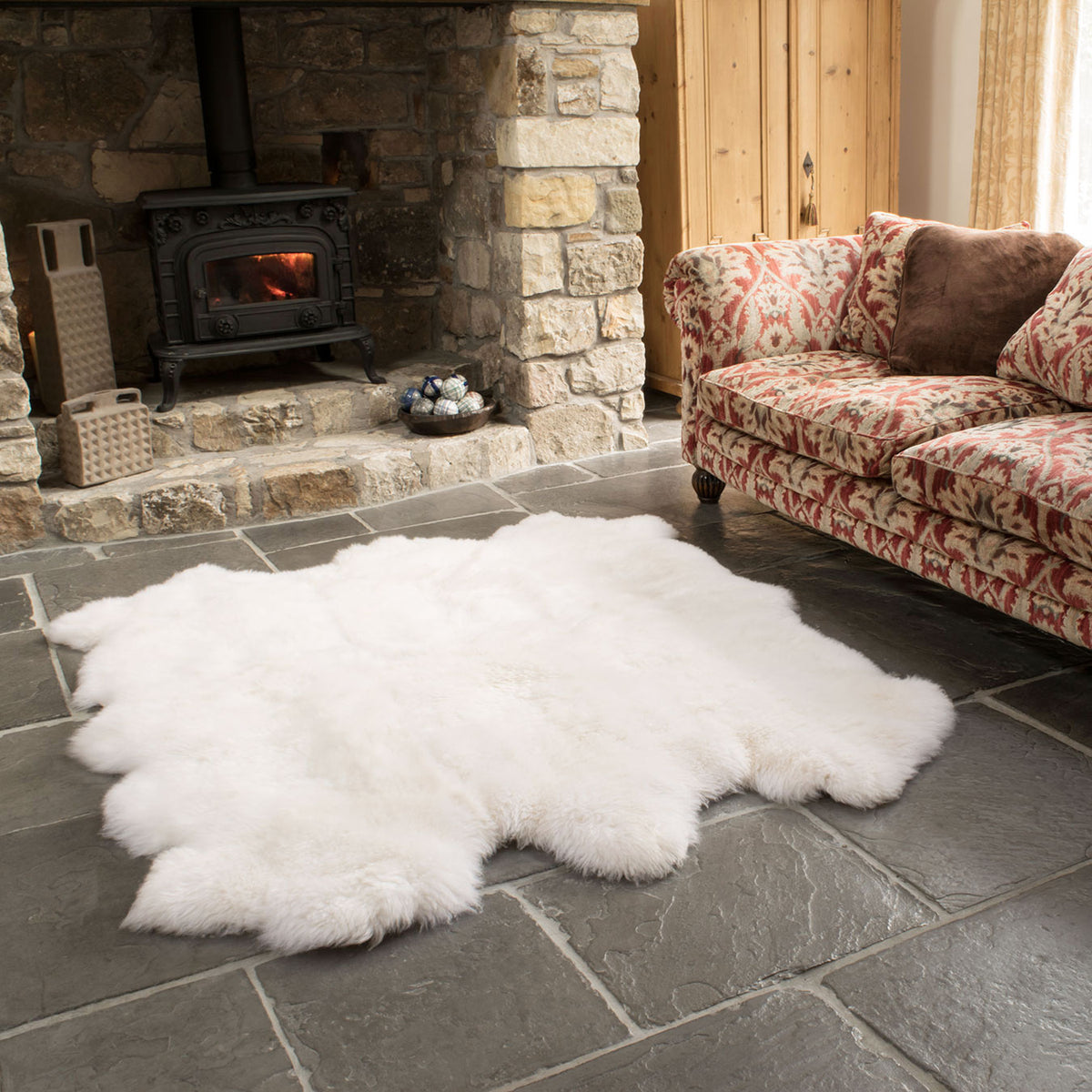 Natural White Sexto Sheepskin Rug
