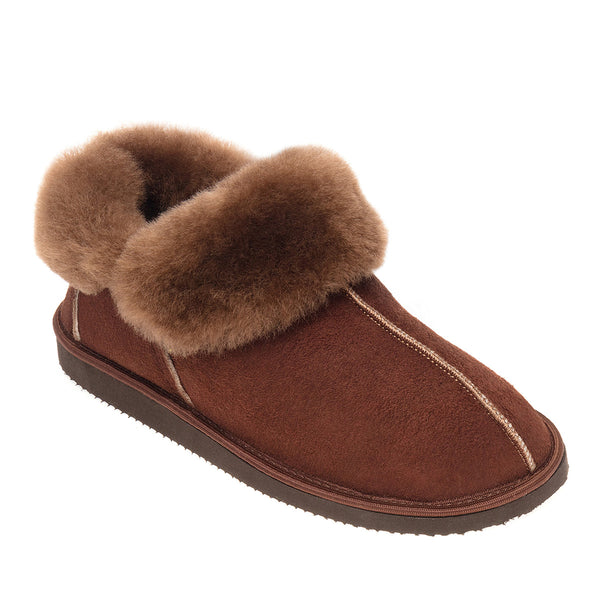 Gael Sheepskin Slippers - Espresso