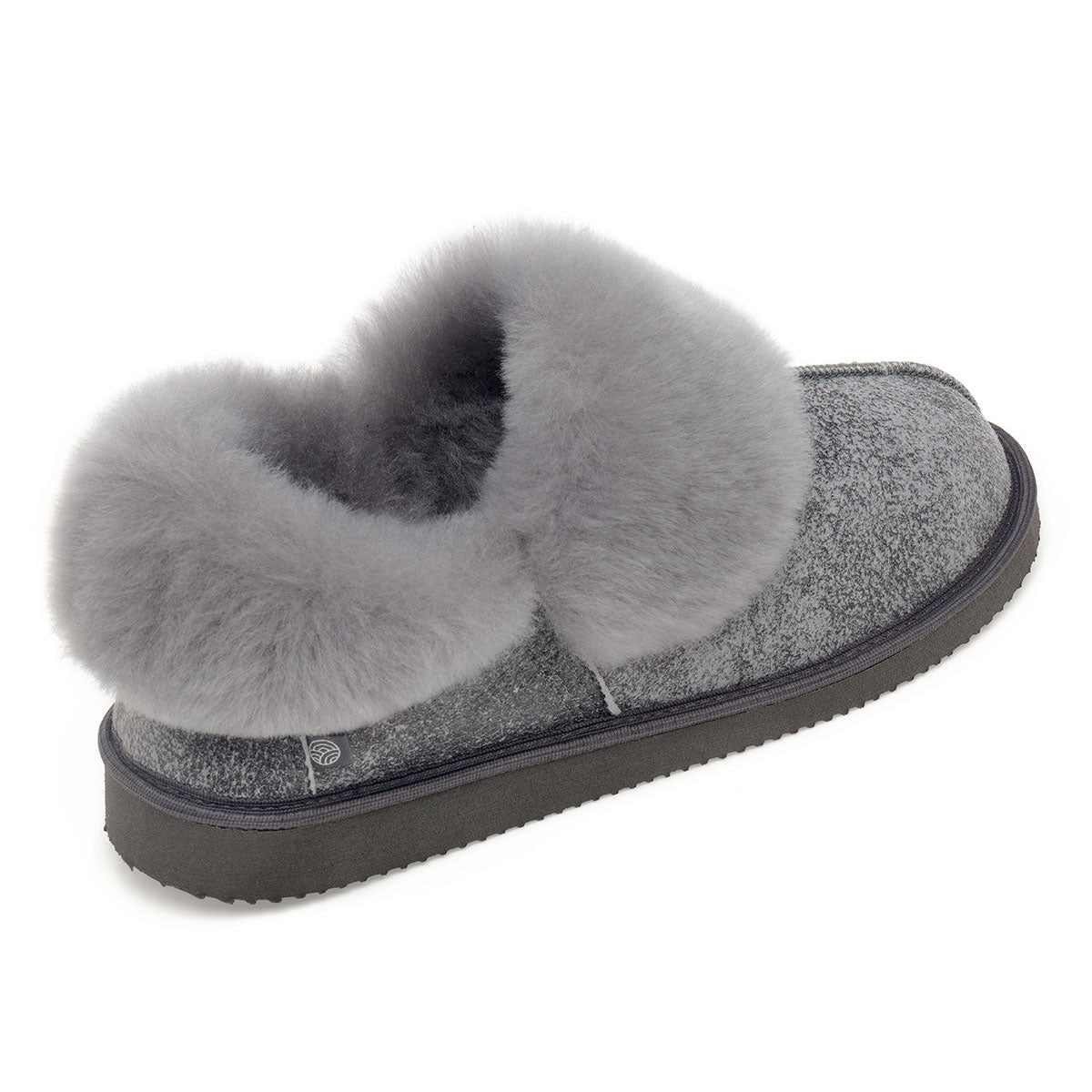 NEW Gael Sheepskin Slippers - Grey Distressed Leather