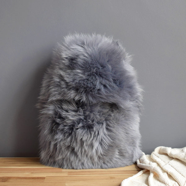 Sheepskin Hot Water Bottle - Grey