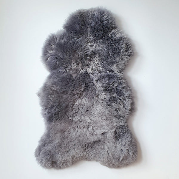 British Grey Single Sheepskin