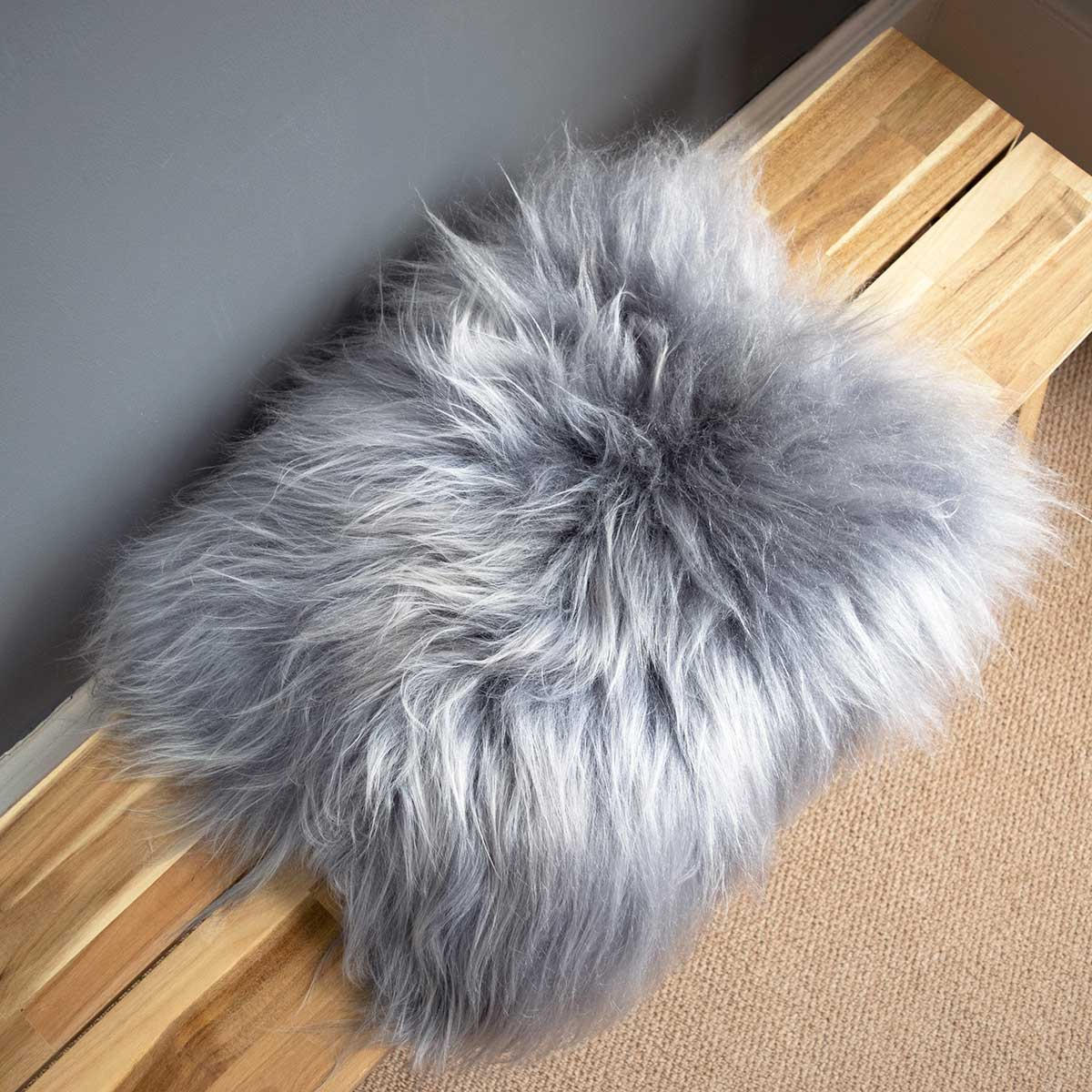 NEW Grey Icelandic Sheepskin Seat Pad