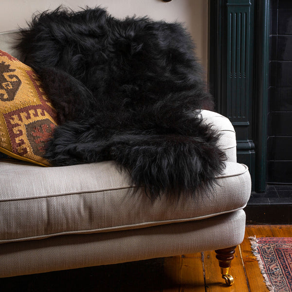 Icelandic Natural Black Sheepskin