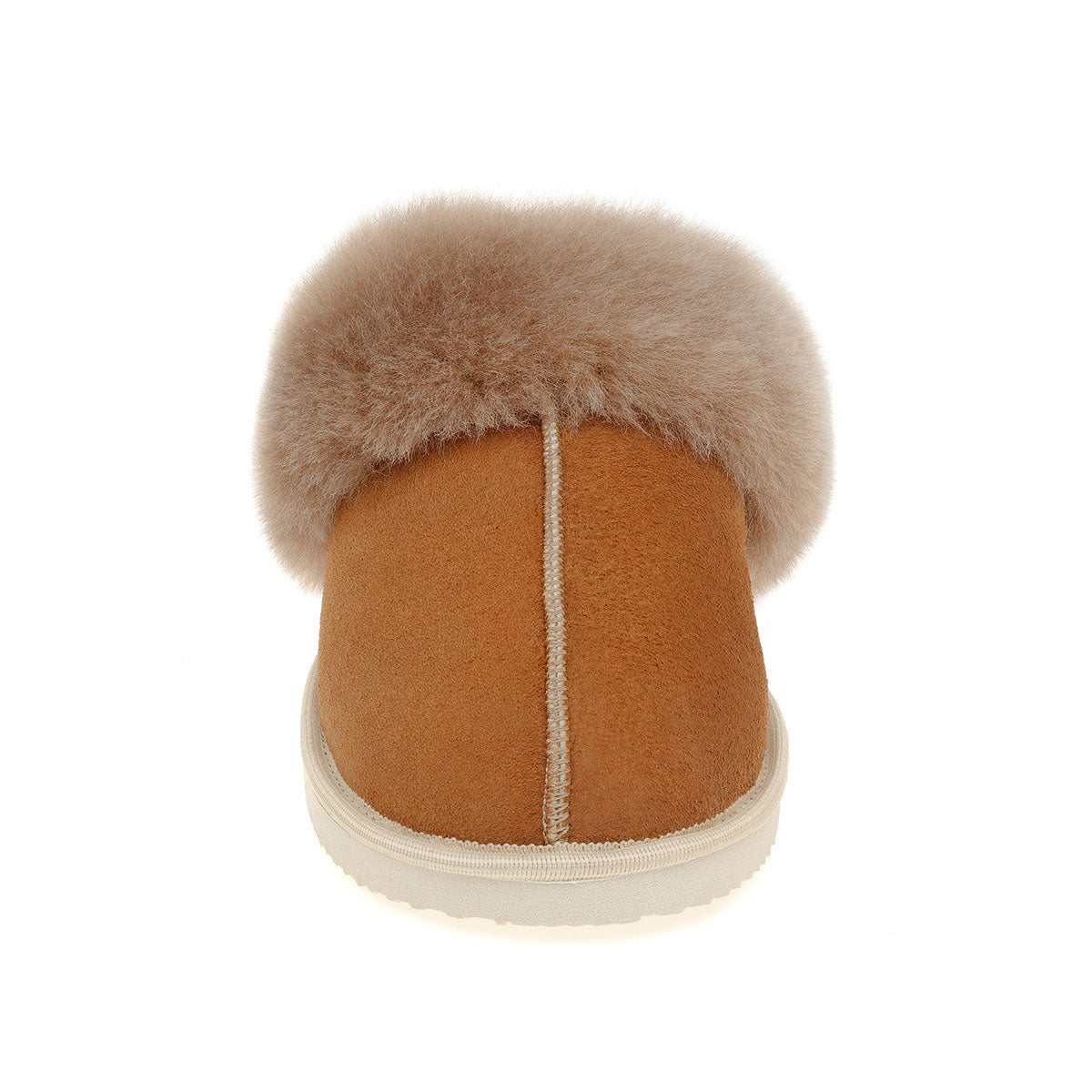 NEW Ines Sheepskin Cuff Mules - Chestnut