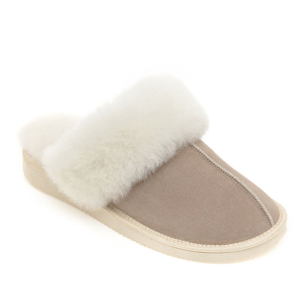 NEW Ines Sheepskin Cuff Mules - Oat