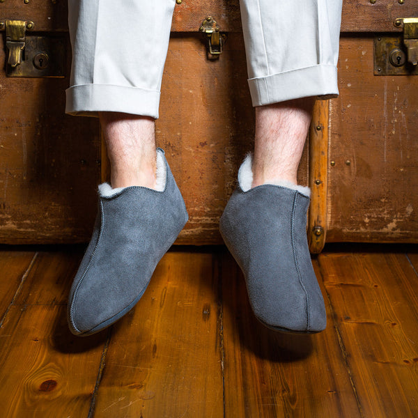 Berit Sheepskin Slippers - Grey