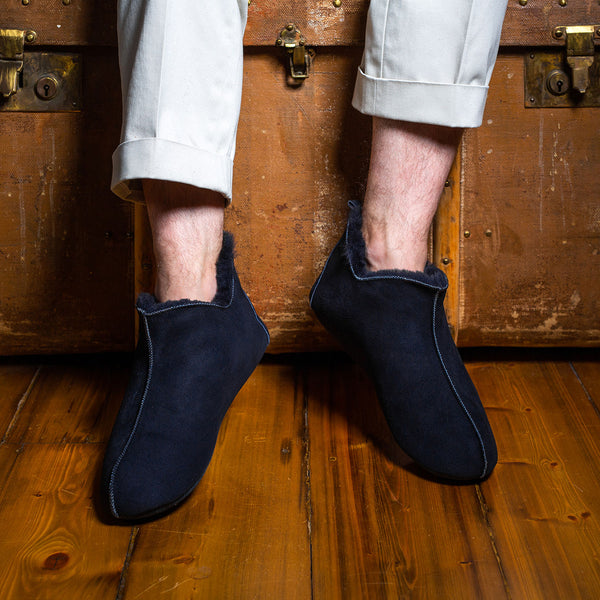 Berit Sheepskin Slippers - Navy