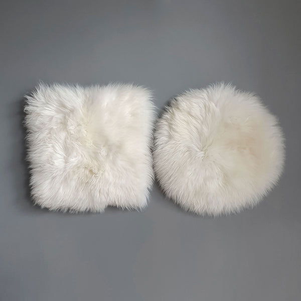 Natural White/Ivory British Sheepskin Seat Pad