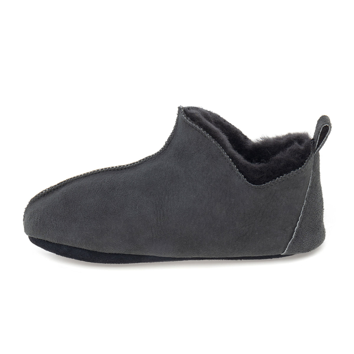 Berit Sheepskin Slippers - Graphite