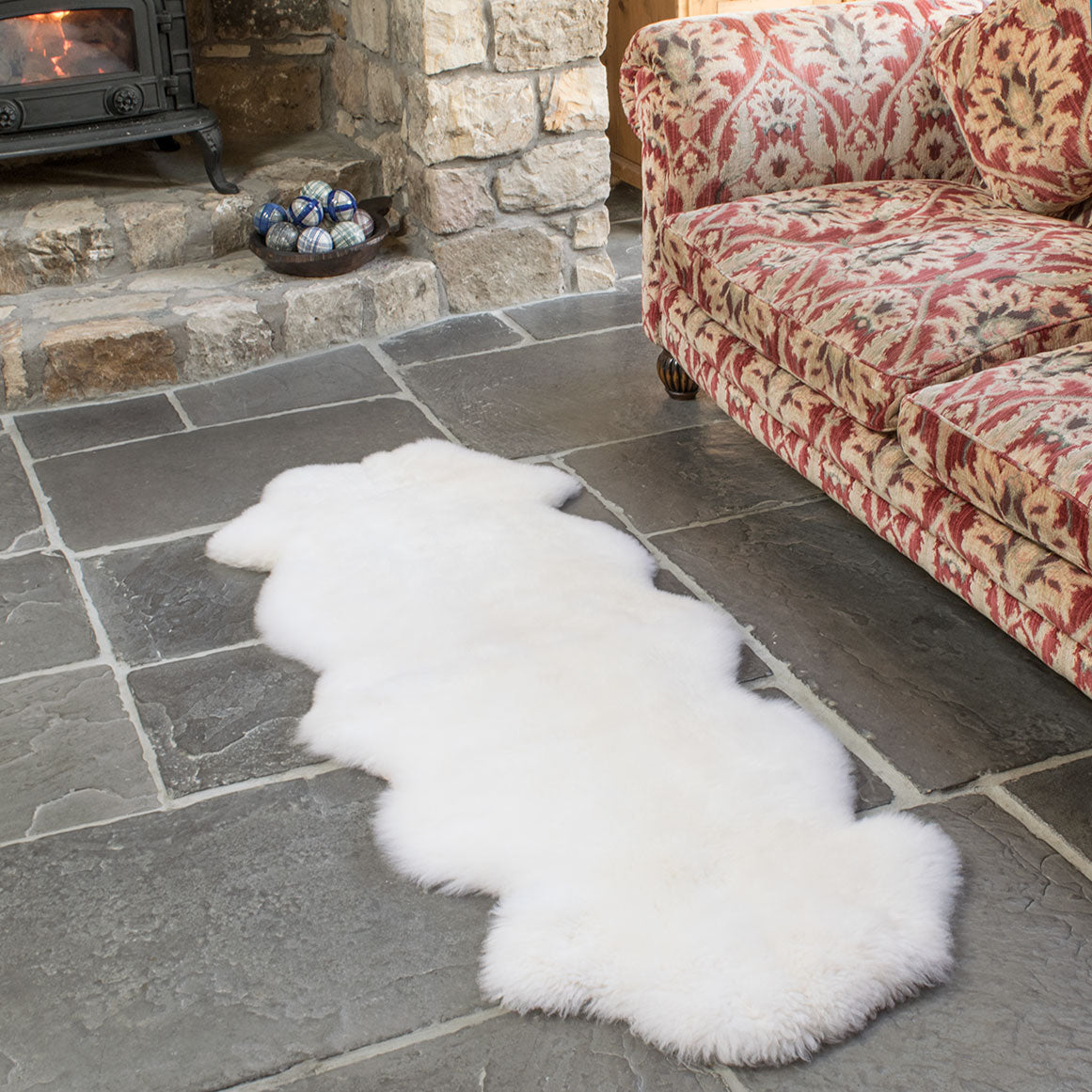 Natural White Double Sheepsking Rug