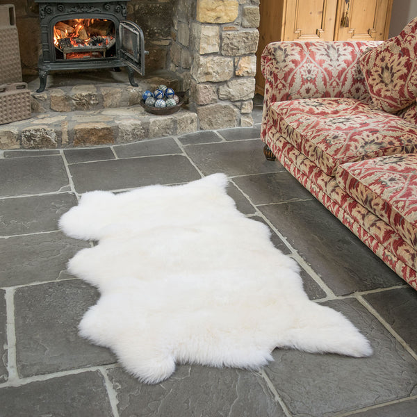 Natural White Triple Sheepskin Rug