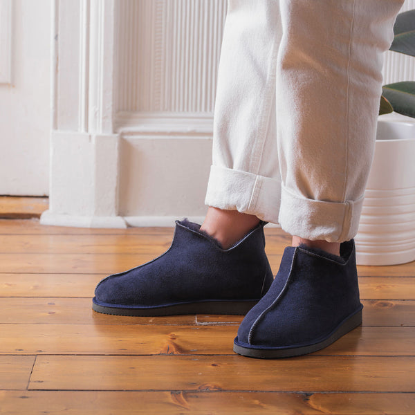 Alpin Sheepskin Slippers - Navy