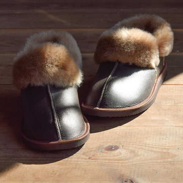 Gael Sheepskin Slippers - Dark Brown