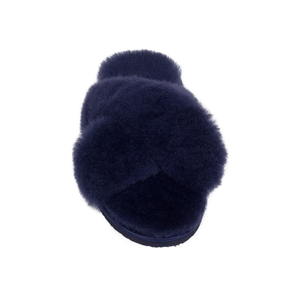 Sula Sheepskin Cross Slider Slippers - Midnight Navy