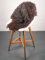 Swedish Gotland Curly Sheepskin - Brown/Brindle
