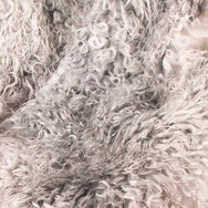 Swedish Gotland Curly Sheepskin - Light Grey/Silver/Cream