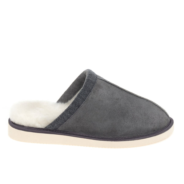 Baffie Mule Sheepskin Slippers - Grey