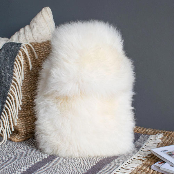 Sheepskin Hot Water Bottle - Natural Ivory