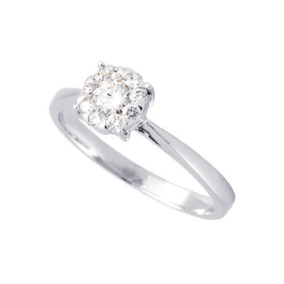 Bague dts 0.33ct GHSI or blanc