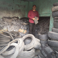Jaggery Bags - Typical Scrap Tyre Tube shop