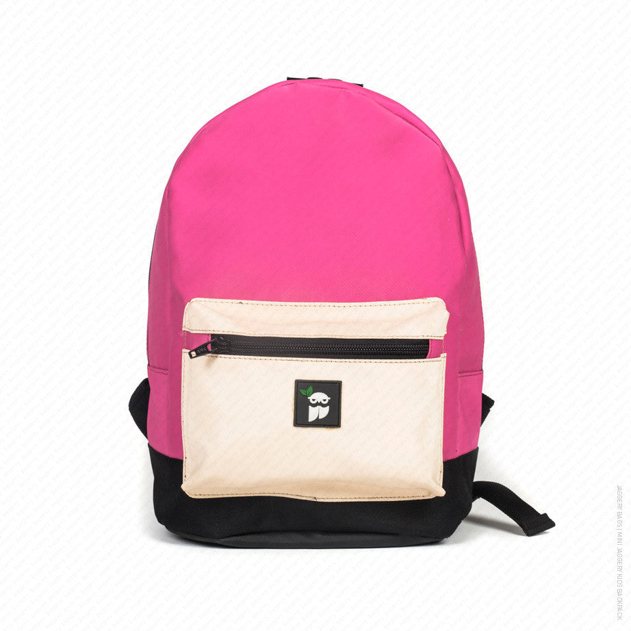 Mini Jaggery  Kids Backpack in Pink   Cream  1- 3 Years  - Jaggery ... 9b32e5022cec8