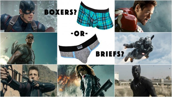 Do The Men of Captain America: Civil War Wear Boxers or Briefs?