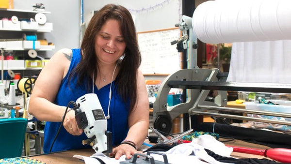 Behind Bodyaware: Georgina, Fabric Cutting Extraordinaire!