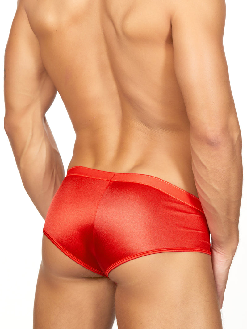 Men's red satin brief