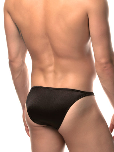 Men's back satin bikini briefs