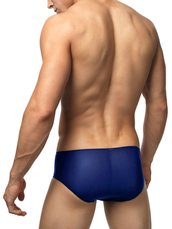 Men's blue transparent brief