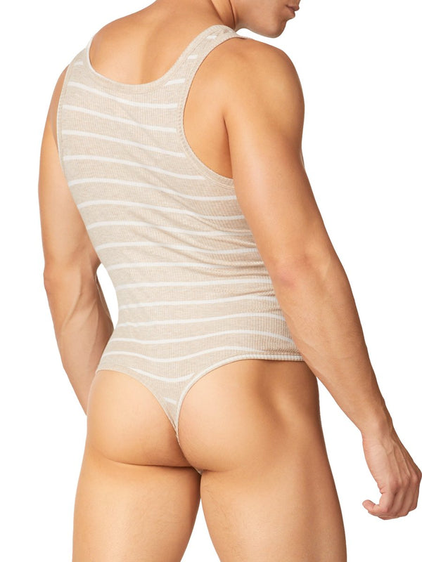 Simply Stripes Thong Bodysuit