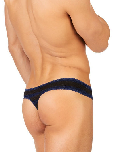 Men's Black Sparkle Thong Underwear