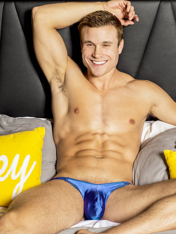 men's blue bikini briefs