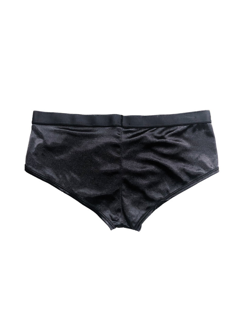 men's black satin briefs