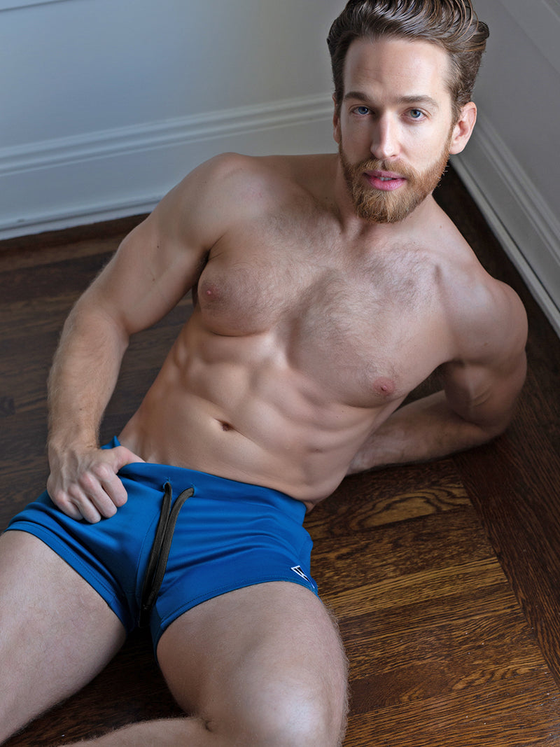 men's blue athletic shorts