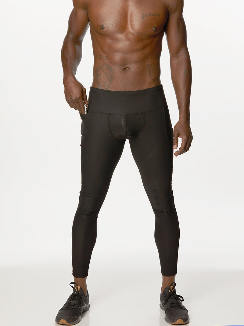 Pleather Pocket Leggings