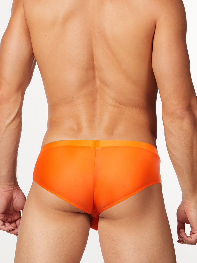 men's orange pouch briefs