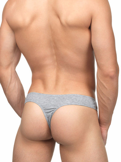 Men's Soft Ribbed Bikini Thong