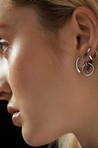 DISRUPTED 14 EARRING - SILVER