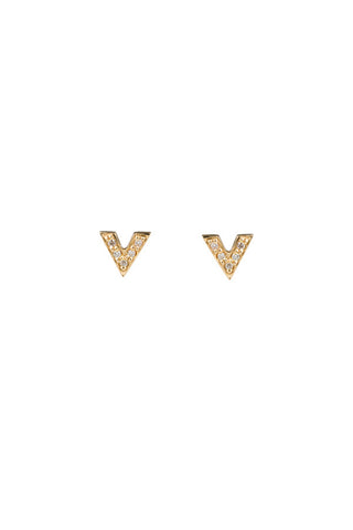 BROOKS STUD DIAMOND EARRING - 14K YELLOW GOLD
