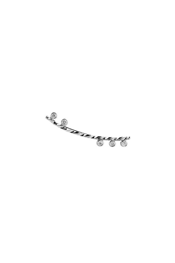 COLETTE DIAMOND CUT EARRING - 14K WHITE GOLD
