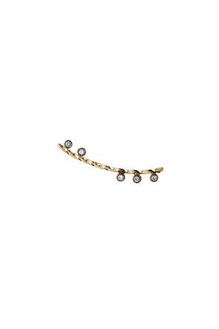 COLETTE NOIR DIAMOND CUT EARRING - 14K YELLOW GOLD