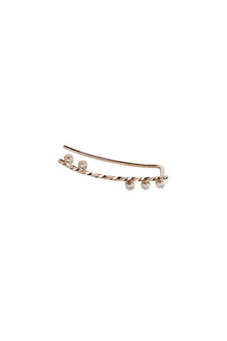 COLETTE DIAMOND CUT EARRING - 14K ROSE GOLD