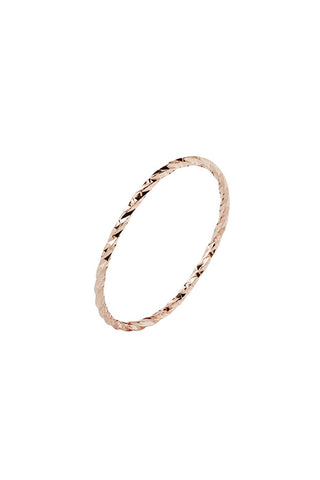DIAMOND CUT RING - 14K ROSE GOLD