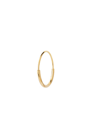 DELICATE HOOP 18 EARRING - HIGH POLISHED GOLD