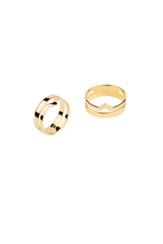 DETOUR RING - HIGH POLISHED GOLD